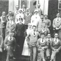 Moose Jaw Military Hospital, 1918.  George Ridgeway is in the back row on the right.