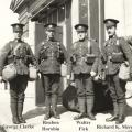 Walter Fick, second from right, 1916.