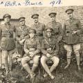 5th Battalion, France.  James Lloyd Evans standing