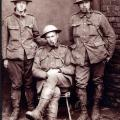 Sergt. J.A. Lindsay (seated) with two others from his battery.