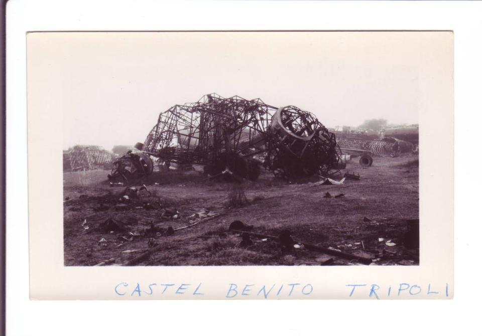 Photo #2 Plane remnants at Castel Benito (near)Tripoli