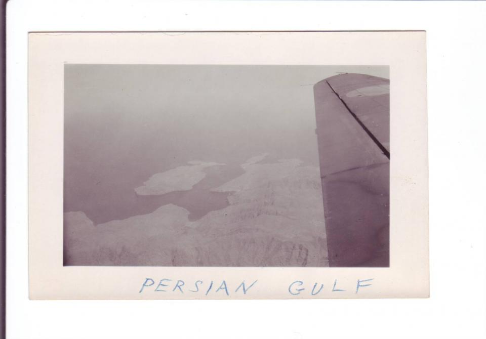 Photo # 6 View from plane of Persian Gulf