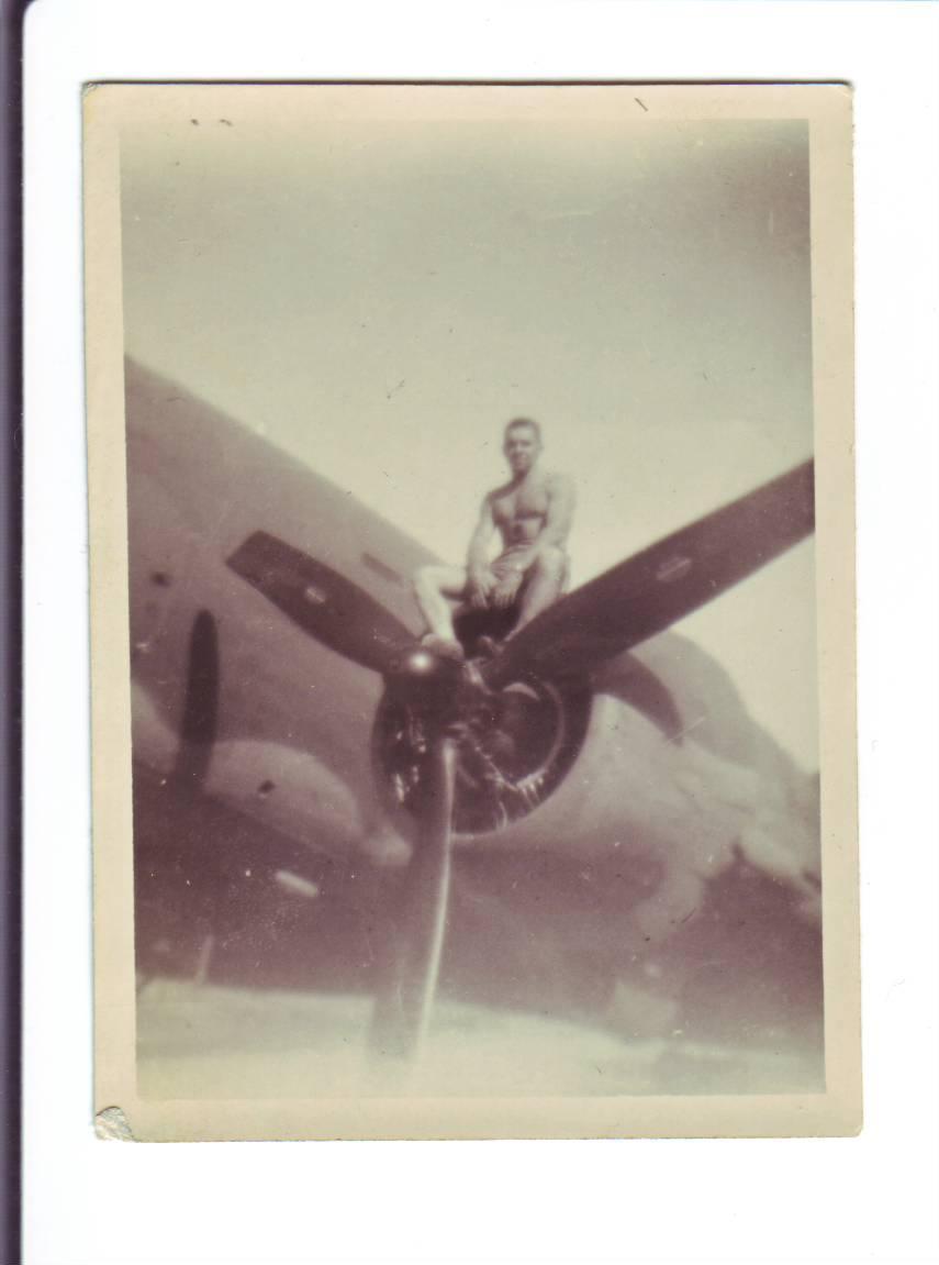 Photo #16 Joseph on Air Plane Engine