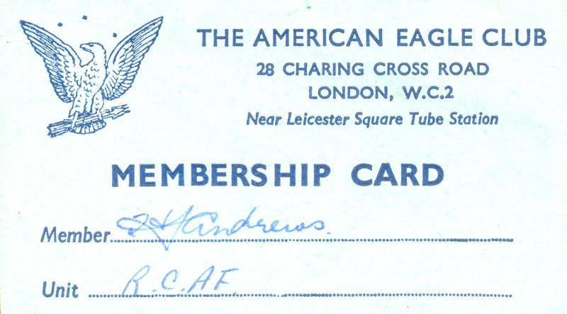 The American Eagle Club Membership Card