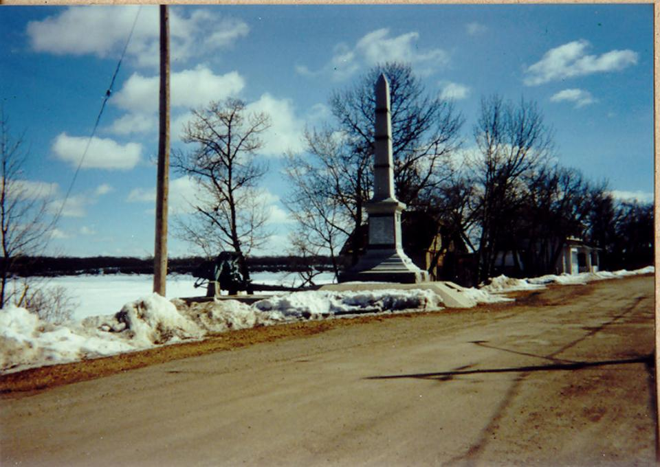 Cenotaph in Saltcoats, Sask. 1990.