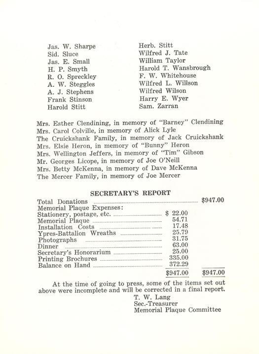 19th Battalion Association, pg 11