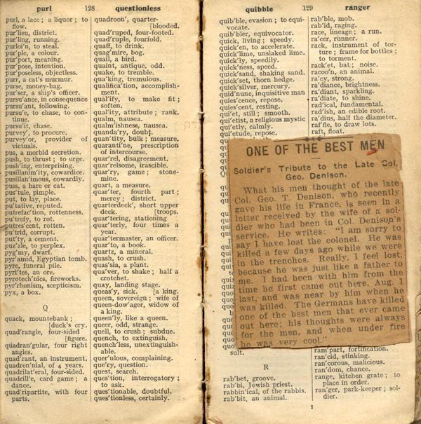 Pocket dictionary, pg 128-129
