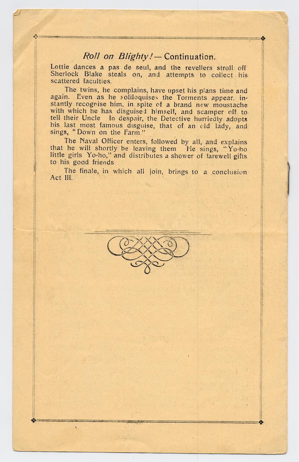 Program, The British Orchestra, Rennbahn Prisoner of War Camp