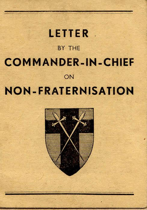 Non-Fraternisation Booklet, front