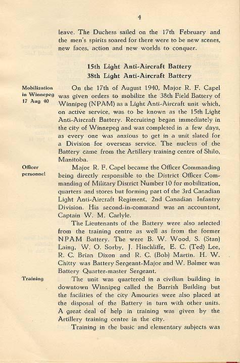 Regimental History, pg 4