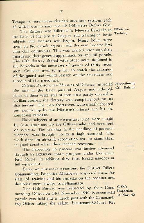 Regimental History, pg 7