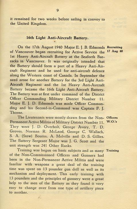 Regimental History, pg 9
