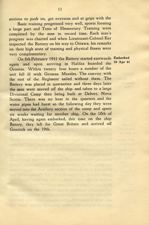 Regimental History, pg 11