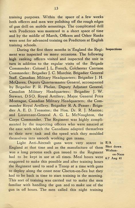 Regimental History, pg 13