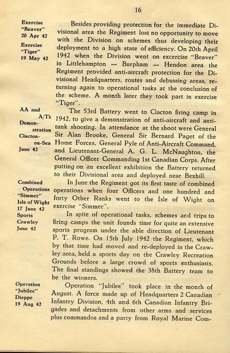 Regimental History, pg 16