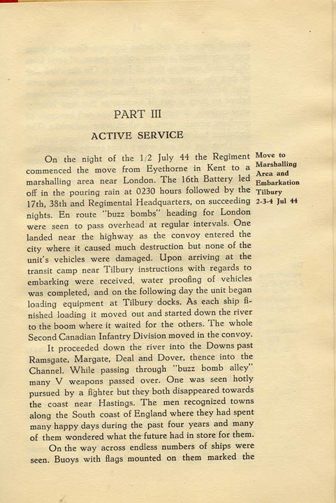 Regimental History, pg 23