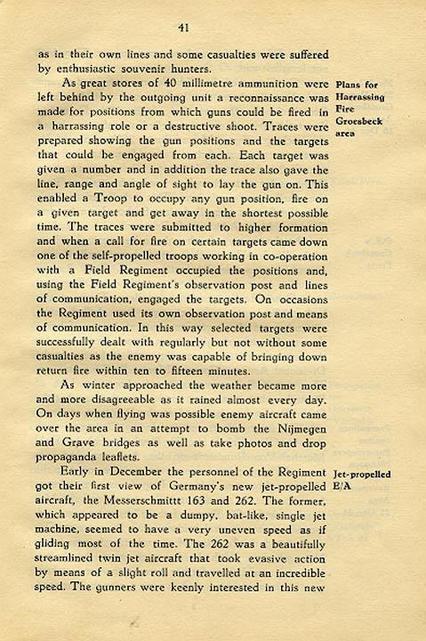 Regimental History, pg 41