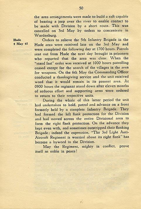 Regimental History, pg 50
