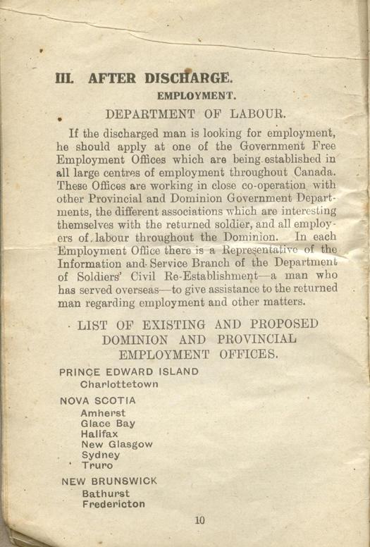Returned Soldiers Handbook, nd, page 10