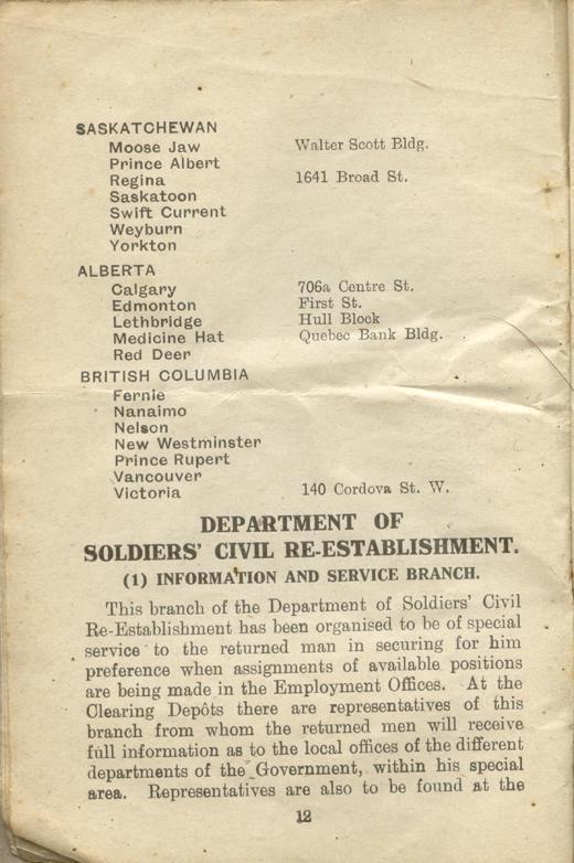 Returned Soldiers Handbook, nd, page 12