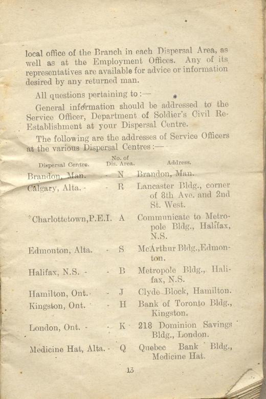 Returned Soldiers Handbook, nd, page 13