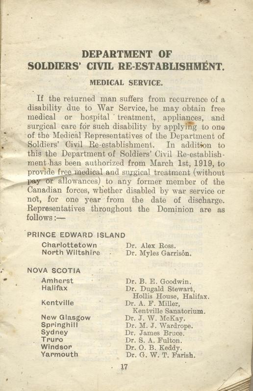 Returned Soldiers Handbook, nd, page 17