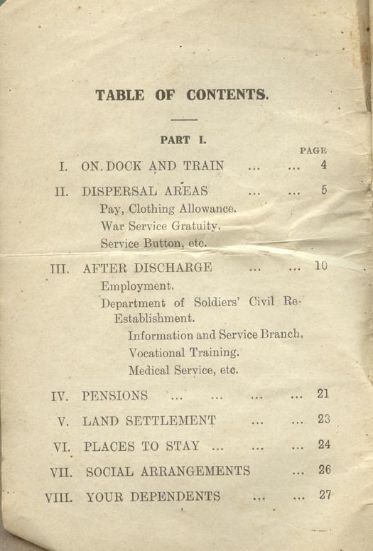 Returned Soldiers Handbook, nd, page 2