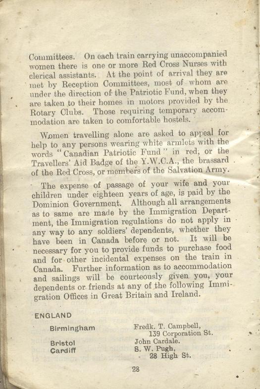 Returned Soldiers Handbook, nd, page 28