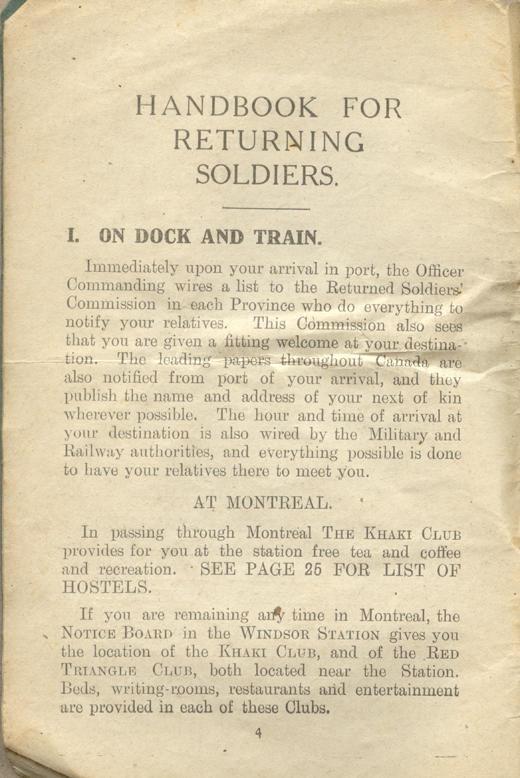 Returned Soldiers Handbook, nd, page 4