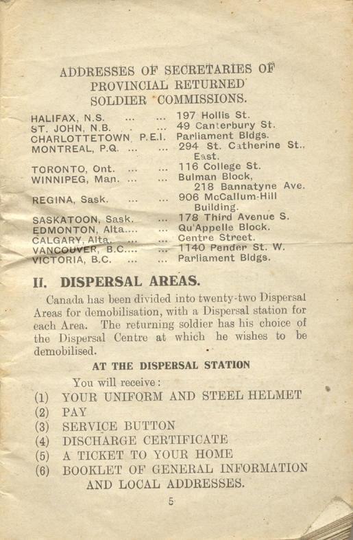 Returned Soldiers Handbook, nd, page 5