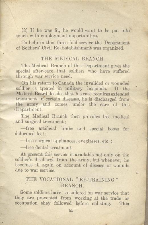 Returned Soldiers Handbook, nd, page 51