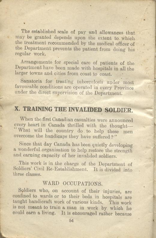 Returned Soldiers Handbook, nd, page 54