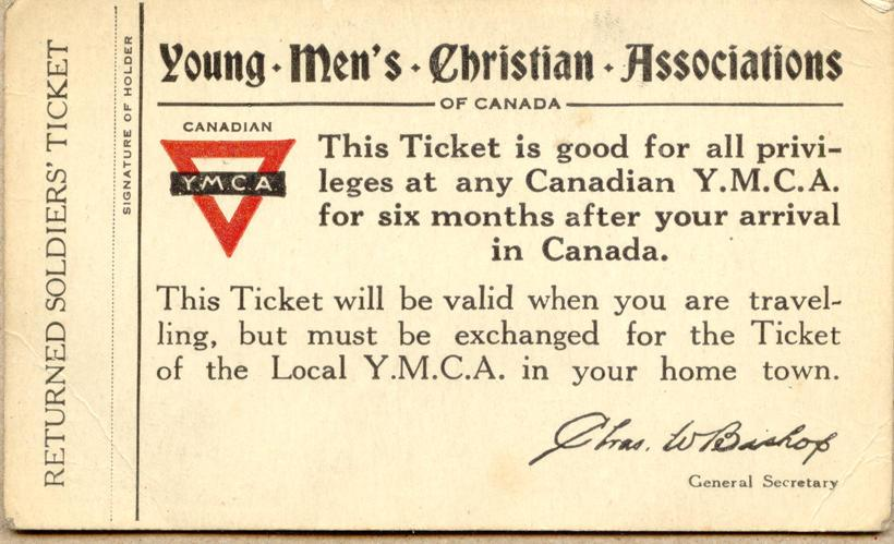 YMCA ticket, nd