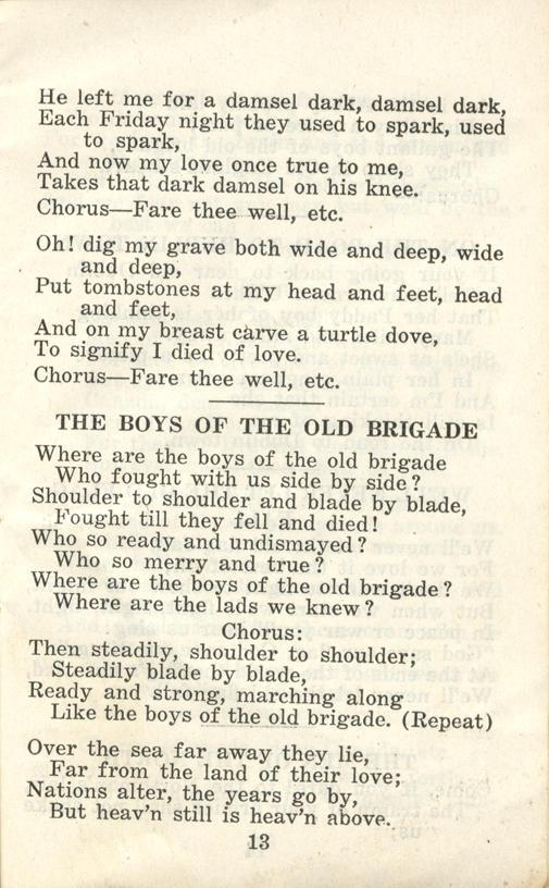 Winnipeg Rifles Songbook, nd, page 13