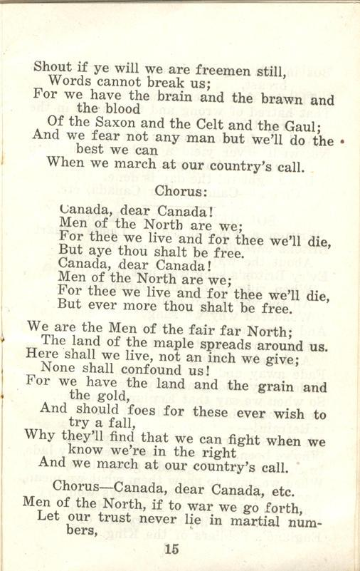 Winnipeg Rifles Songbook, nd, page 15