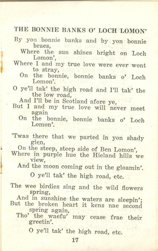 Winnipeg Rifles Songbook, nd, page 17