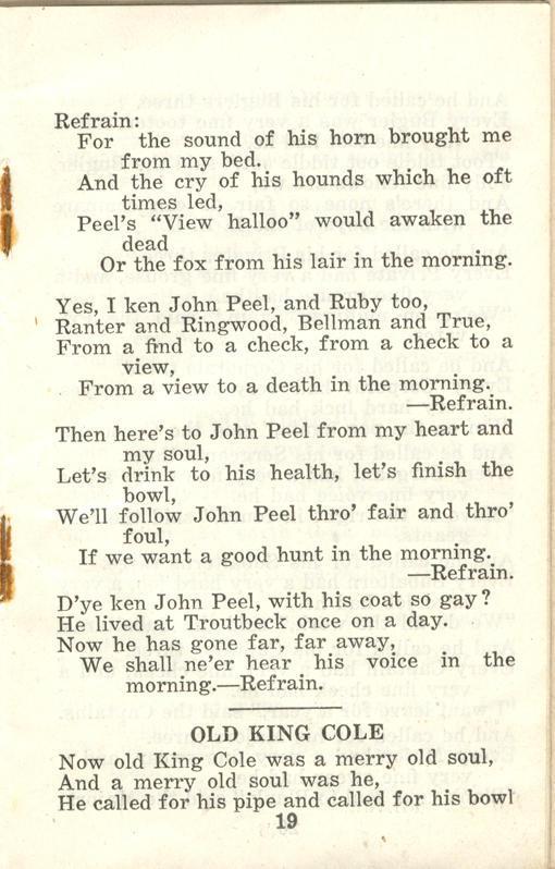 Winnipeg Rifles Songbook, nd, page 19
