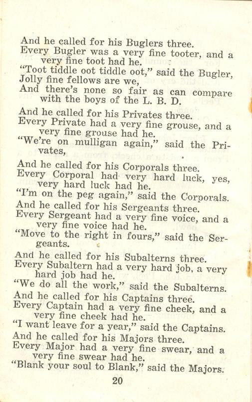 Winnipeg Rifles Songbook, nd, page 20