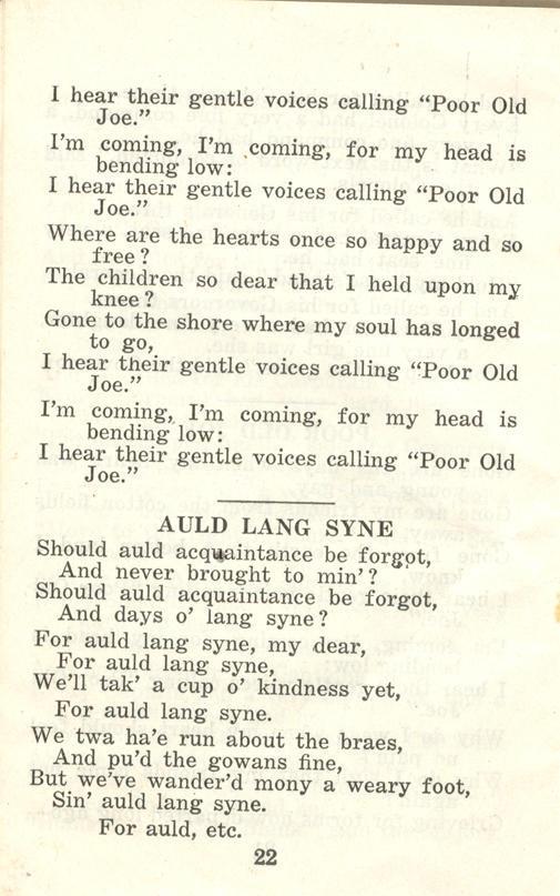 Winnipeg Rifles Songbook, nd, page 22