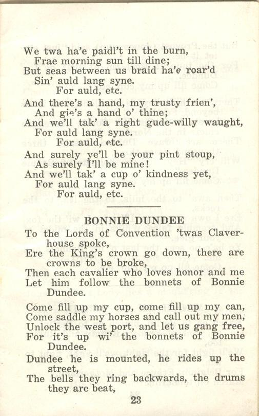Winnipeg Rifles Songbook, nd, page 23