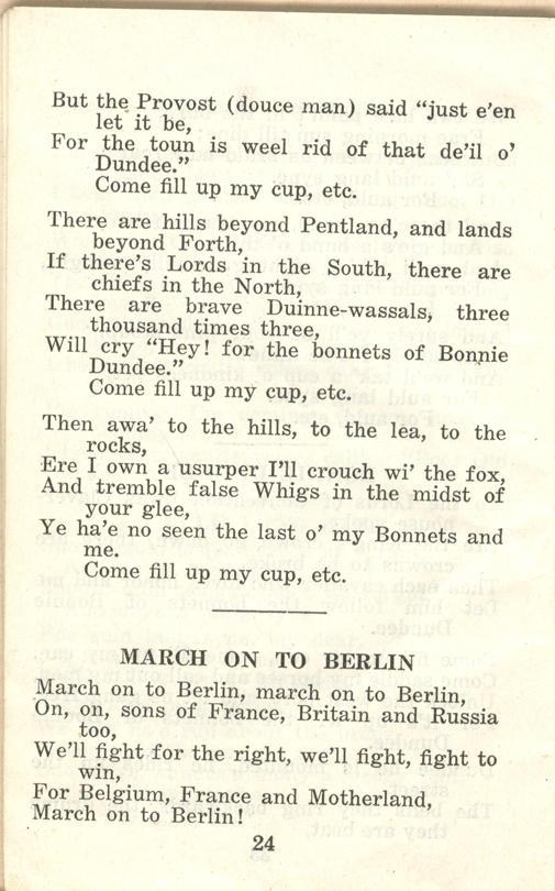 Winnipeg Rifles Songbook, nd, page 24
