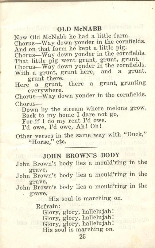 Winnipeg Rifles Songbook, nd, page 25