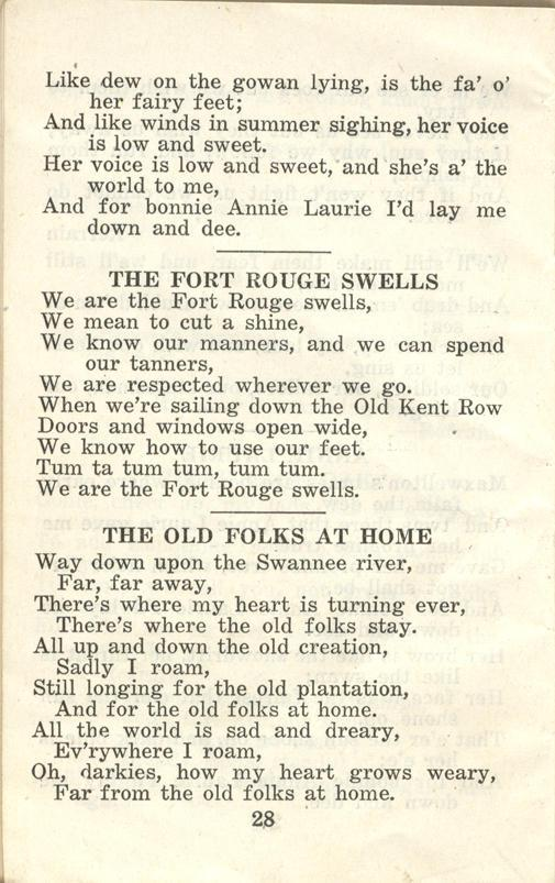 Winnipeg Rifles Songbook, nd, page 28