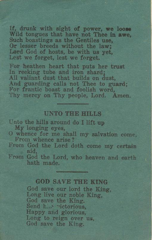 Winnipeg Rifles Songbook, nd, page 35
