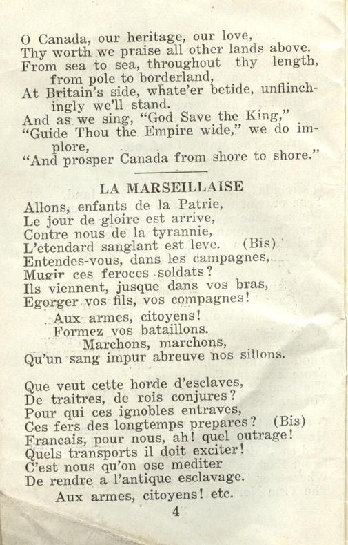 Winnipeg Rifles Songbook page 4
