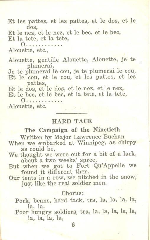 Winnipeg Rifles Songbook, nd, page 6