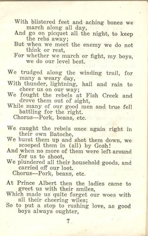 Winnipeg Rifles Songbook page 7