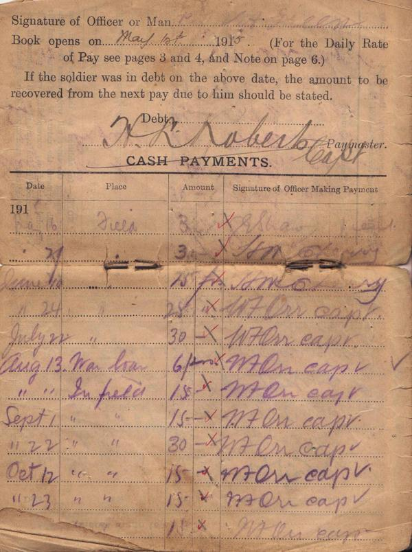 Pay Book, image 1.