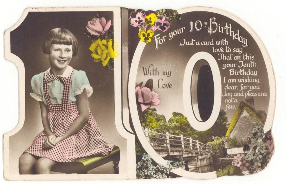 Birthday card, front.