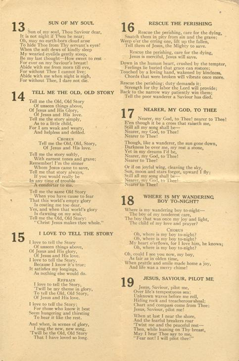 #3 Hymn Sheet